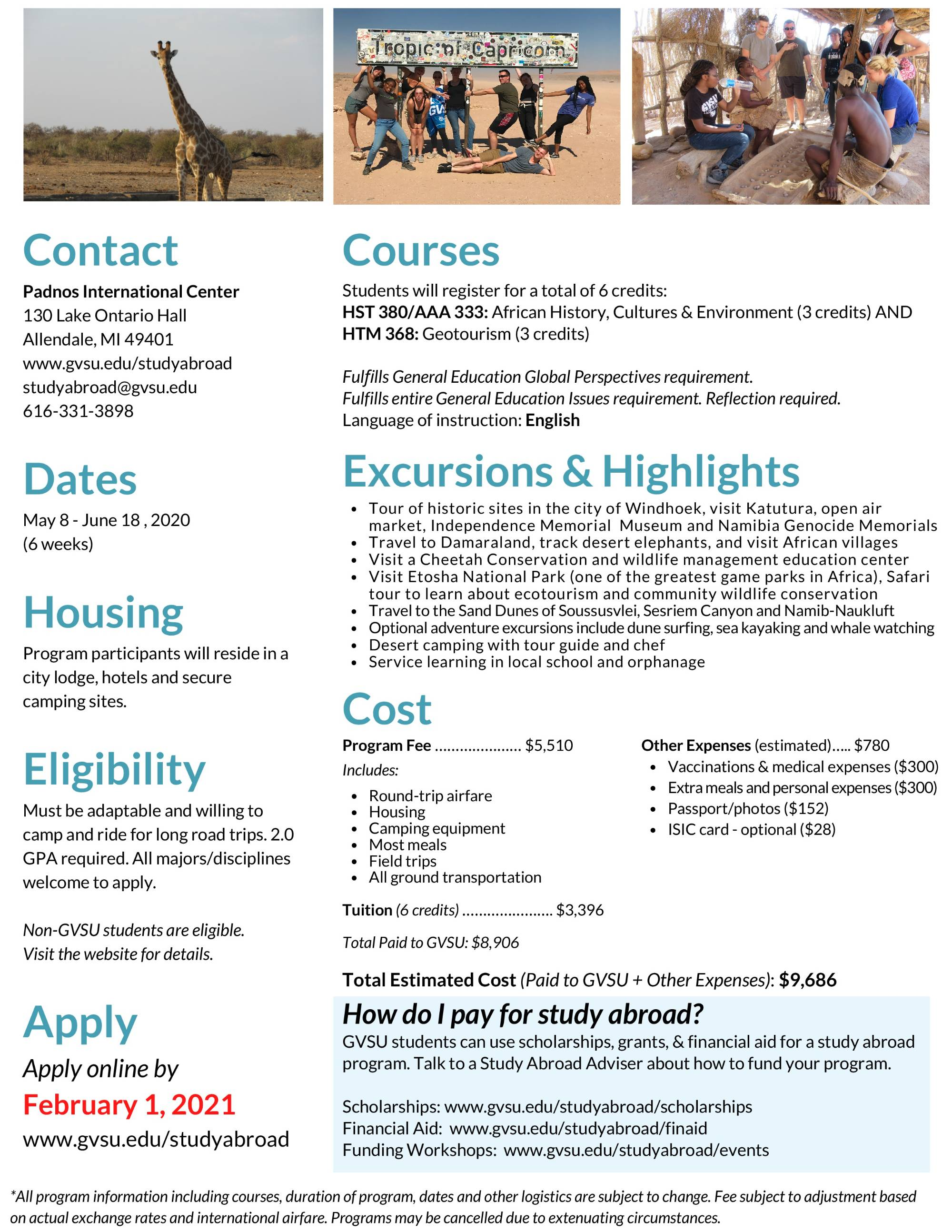 Namibia Padnos Flyer Page 2